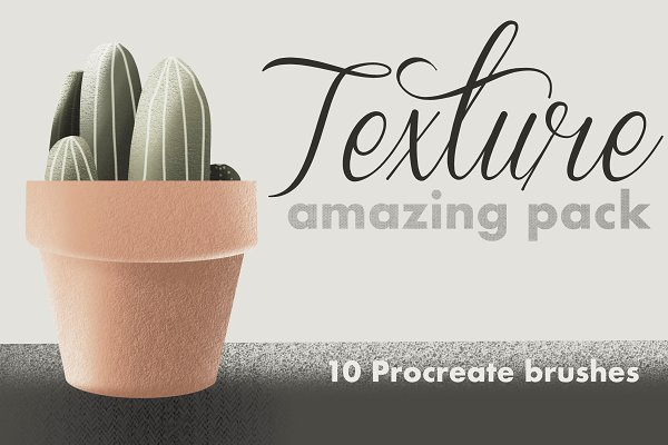 Download 10 Texture brushes for Procreate