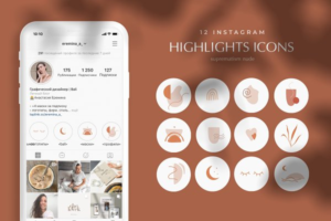 Download 12 Instagram Story Highlight icons