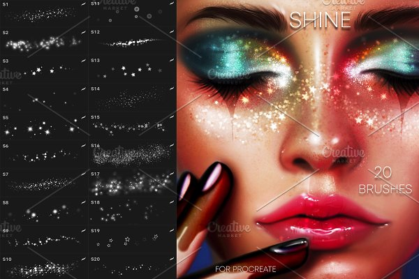 Download 20 Face Shine Brushes for Procreate