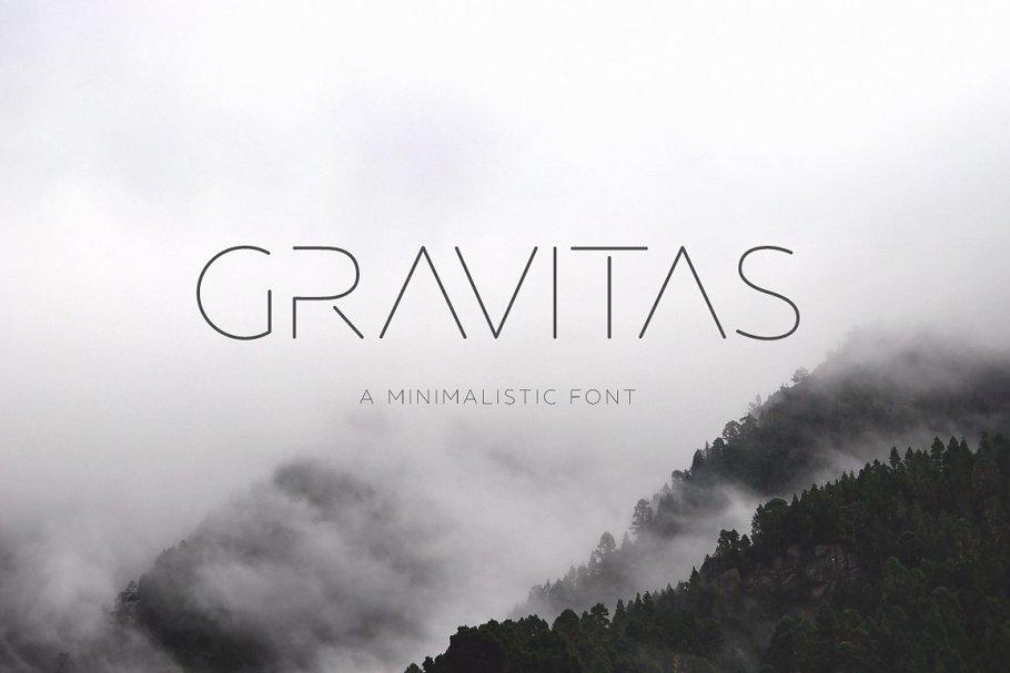 Download GRAVITAS | Modern font