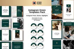 Download Instagram Green Templates Pack