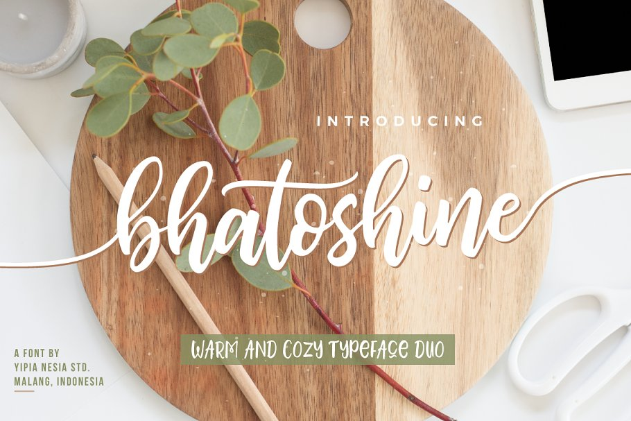 Download Bhatoshine - Fancy Font Duo