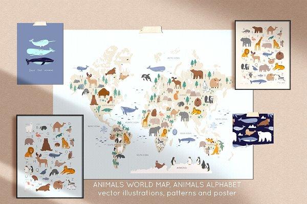 Download Animals World Map