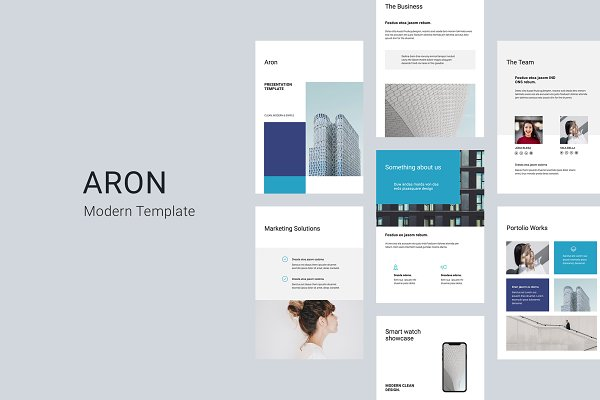 Download ARON - Vertical Keynote Template