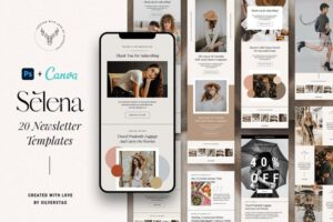 Download Selena PS+Canva Newsletter Templates