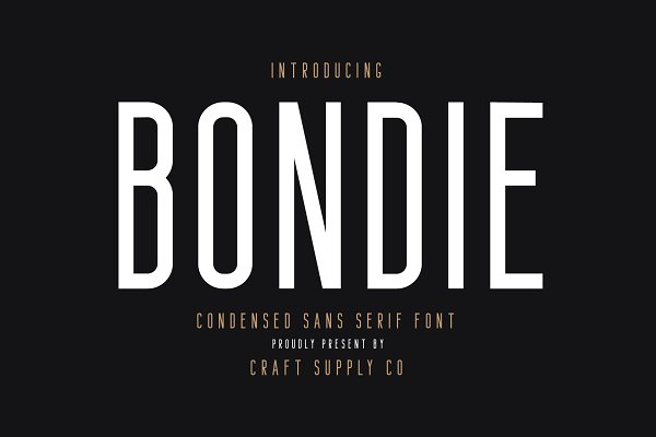 Download Bondie - Condensed Sans Serif