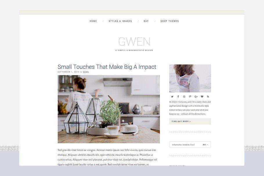 Download Gwen - Responsive WordPress Theme