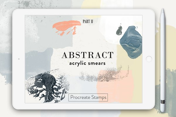 Download Abstract Acrylic - Procreate Stamps