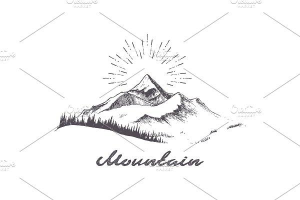 Download Mountain Logo Template