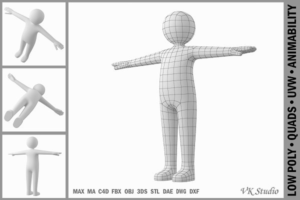 Download Adult Male Stickman in T-Pose