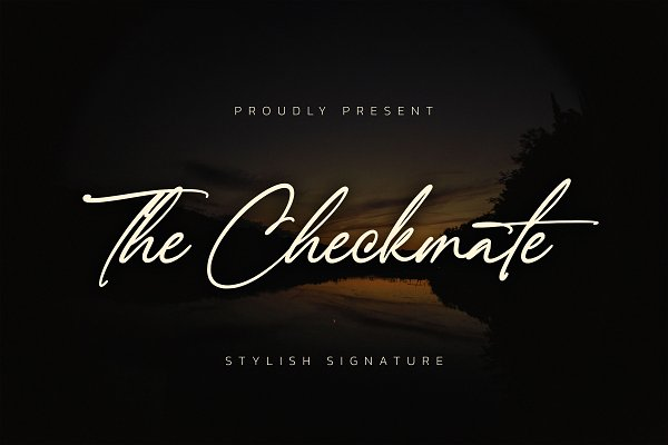 Download The Checkmate - Stylish Signature
