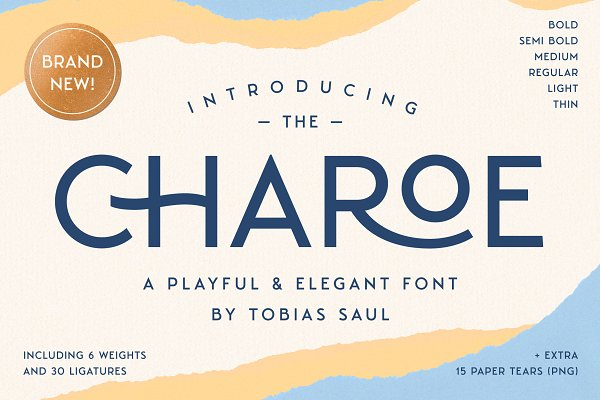 Download Charoe Typeface & Extras