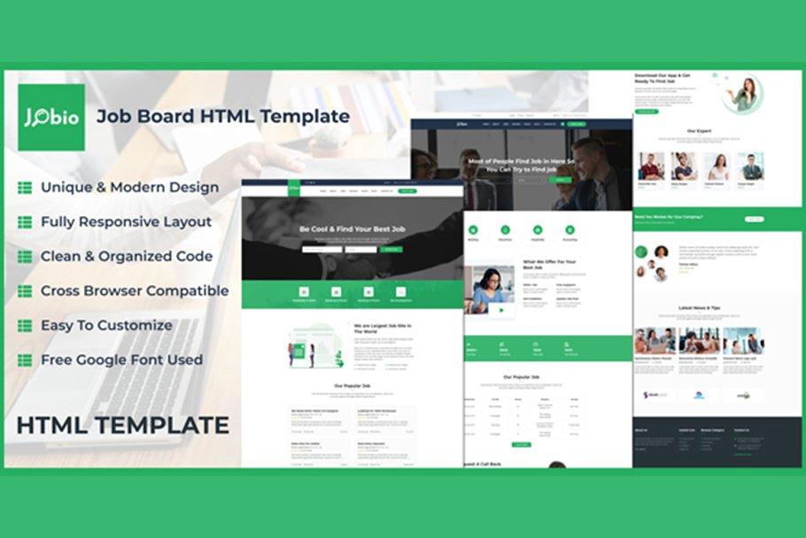Download Jobio - Job Board HTML Template