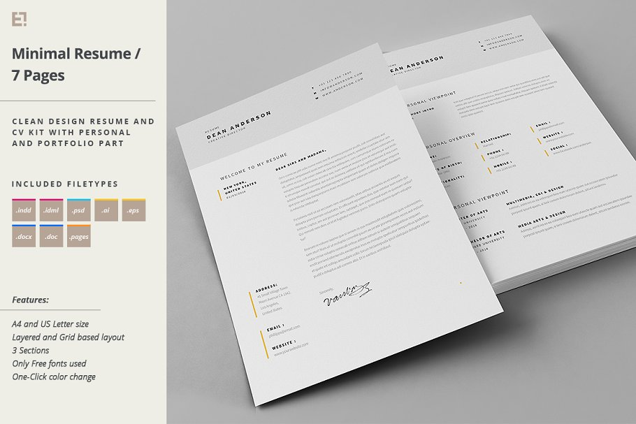 Download Resume & Cover Letter Template