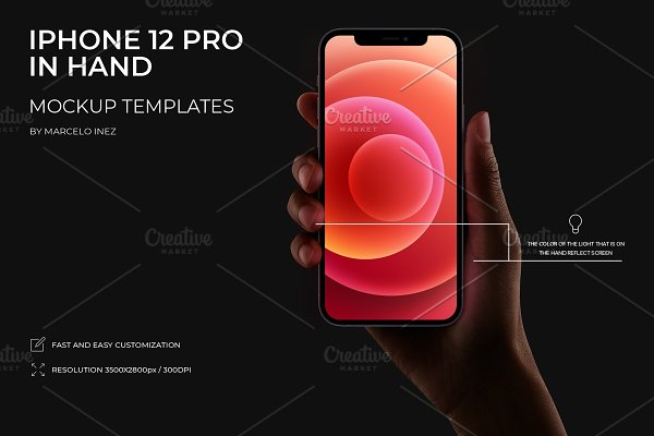 Download iPhone 12 Pro in Hand Mockup