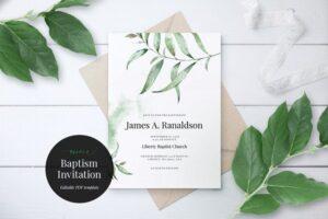 Download Baptism Invitation Template