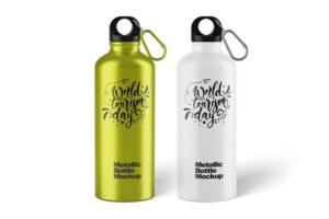 Download Metallic Bottle Mockup