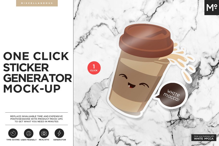 Download One Click Sticker Generator Mock-up