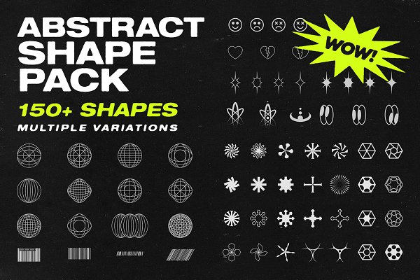 Download Abstract Shape Pack | 150+ Icons!