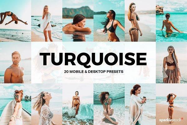 Download 20 Turquoise Lightroom Presets LUTs