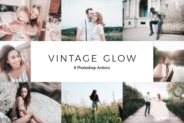 Download 20 Vintage Glow Photoshop Actions