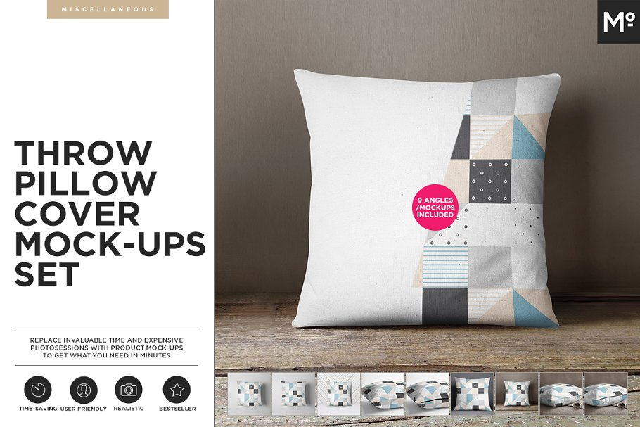 Download The Pillow Cover Mock-ups Set