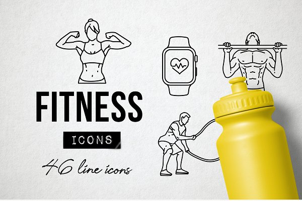 Download 46 Fitness Icons - Exercise