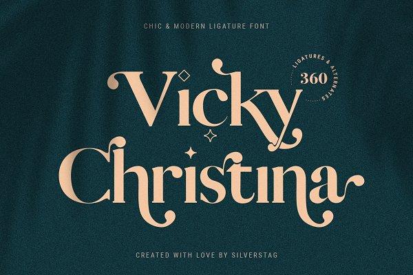 Download Vicky Christina Ligature Serif Font