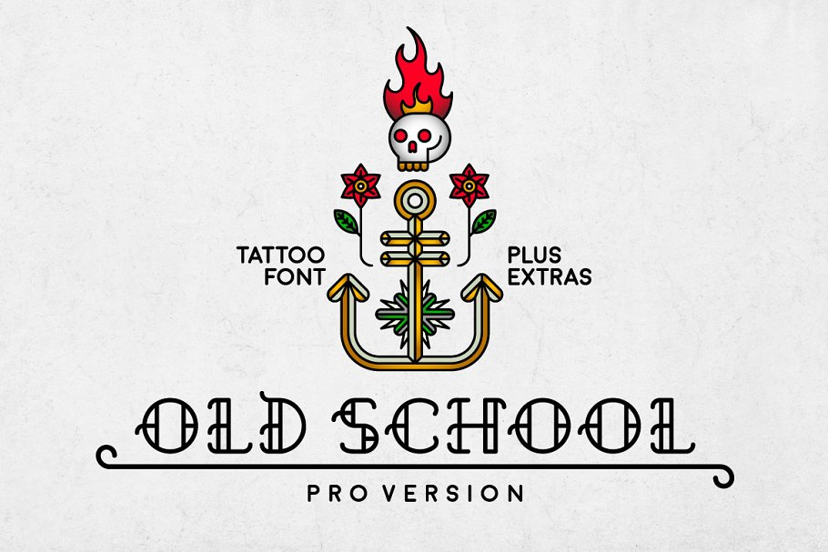 Download Old School - cool tattoo retro font