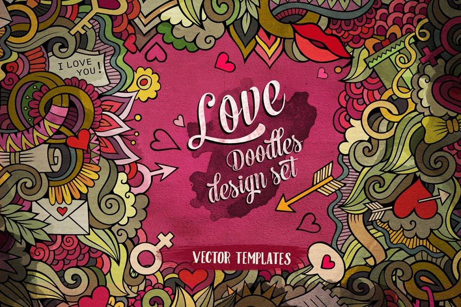 Download ♥ Love Doodles Design Pack