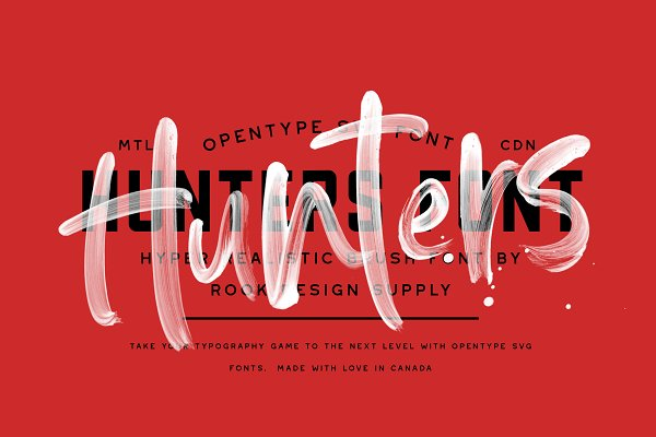 Download Hunters Opentype SVG Font