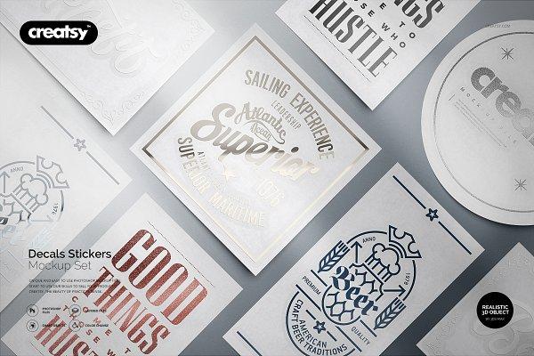 Download Decals Stickers Mockup Set