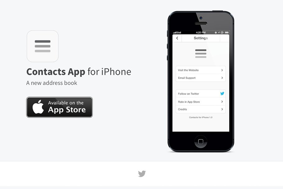 Download App Website Template -HTML/CSS/PSD
