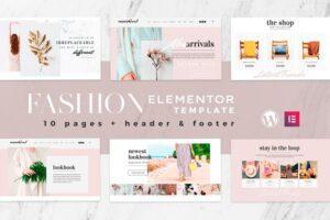 Download Fashion Feel Elementor Template Kit