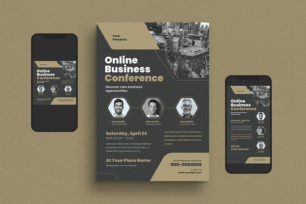 Download Online Business Conference Flyer Set
