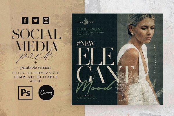 Download Elegant Mood - Social Media Pack