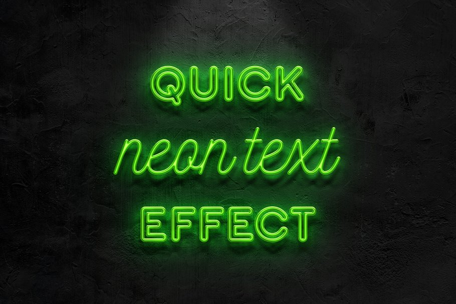Download Neon text effect
