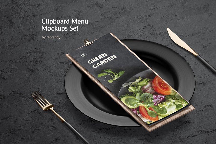 Download Clipboard Menu Mockups Set