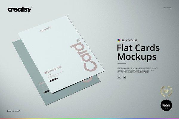 Download Flat Cards Mockup Set