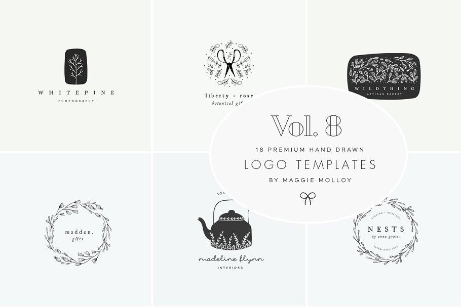 Download Feminine Premade Logo Bundle Vol. 8