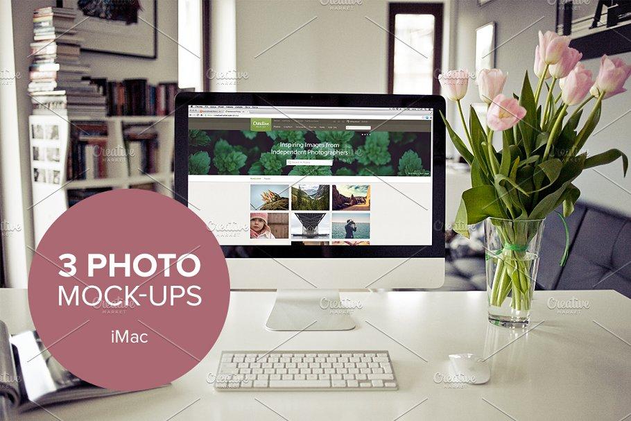 Download 3x Real Photo iMac mockups