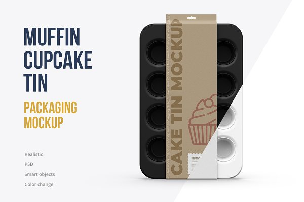 Download Muffin Tin / Cake Pan Mockup