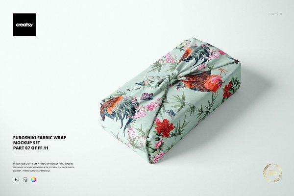 Download Furoshiki Fabric Wrap Mockup Set