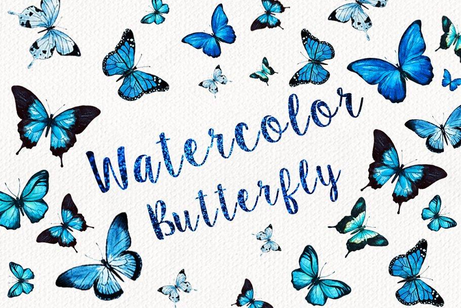 Download Watercolor Butterflies