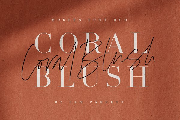 Download Coral Blush Font Duo