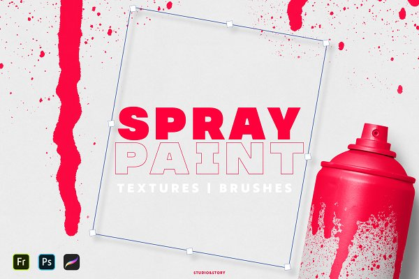 Download Spray Paint Textures & Brushes