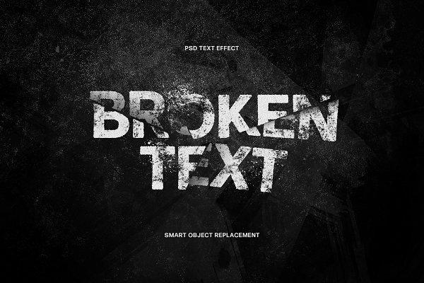 Download Broken Text Photoshop Effect