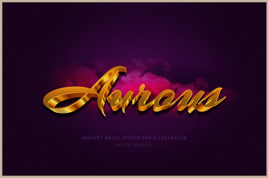 Download Aurous - Text Styles for Illustrator