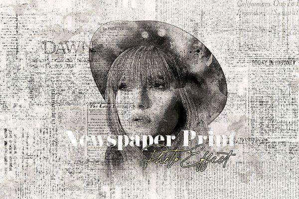 Download Newspaper Print Photo Effect