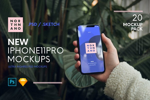 Download iPhone 11 Pro PSD/SKETCH Mockups
